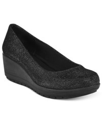 Easy Spirit Clarita Wedge Pumps Women's Shoes Black