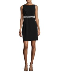 Decode 1.8 Sparkle Trim Sheath Dress Black