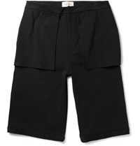 Public School Mono Wide Leg Cotton Shorts Black