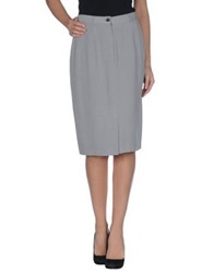 Gerard Darel Knee Length Skirts Grey