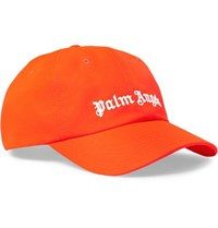 Palm Angels Logo Embroidered Neon Twill Baseball Cap Orange