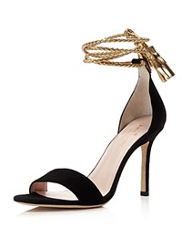 Kate Spade New York Inez Ankle Wrap High Heel Sandals Black Gold