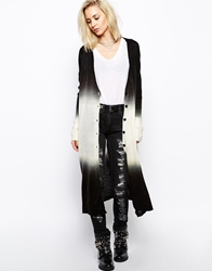 Religion Longline Racing Cardigan With Dip Dye Multi