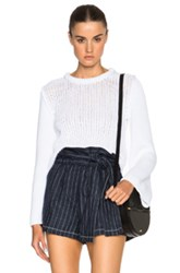 3.1 Phillip Lim Cropped Pullover Sweater In White