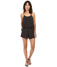 Bench The Superbank C Romper Jet Black Women's Jumpsuit And Rompers One Piece