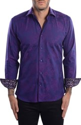 Bertigo Men's Paisley Modern Fit Sport Shirt
