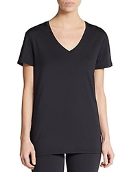 Hbc Sport Stretch Jersey V Neck Tee