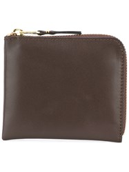 Comme Des Garcons Wallet Zipped Wallet Brown