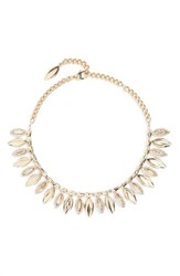 St. John Women's Collection Swarovski Crystal Leaf Collar Necklace