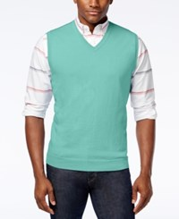 Club Room Sweater Vest Only At Macy's Menthol Mint