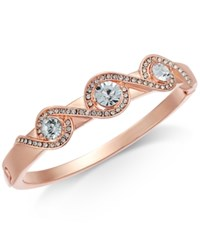 Charter Club Rose Gold Tone Pave Crystal Accented Bracelet Created For Macy's