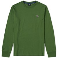 Paul Smith Long Sleeve Zebra Logo Tee Green