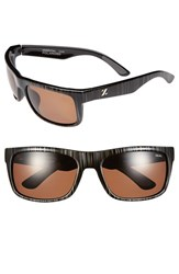 Women's Zeal Optics 'Essential' Polarized Plant Based Sunglasses Black Wood Grain Copper