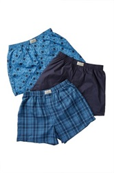 Lucky Brand Woven Boxer Set Pack Of 3 Blue