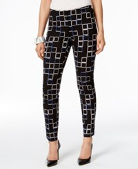 Alfani Petite Printed Cropped Skinny Pants Only At Macy's Small Faded Square