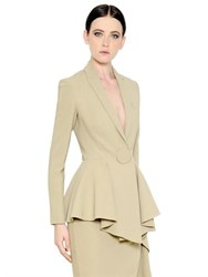 Givenchy Stretch Viscose Cady Jacket With Peplum