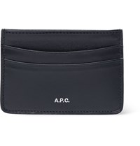 A.P.C. Leather Cardholder Navy
