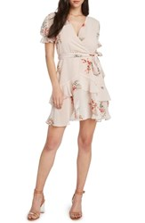 Willow And Clay Layered Ruffle Minidress Ballet