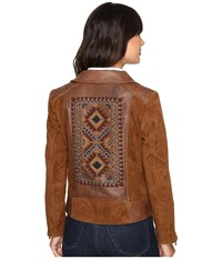 Scully Rhina Beaded Leather Jacket Tan Women's Coat