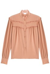 See By Chloe Silk Blouse With Lace Rose