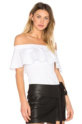 N 21 Ruffle Off The Shoulder Top White