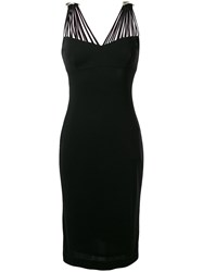 Clips Multi Strap Midi Dress Black
