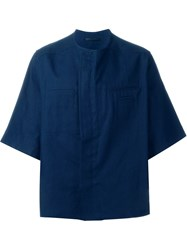Haider Ackermann Oversized Boxy Shirt Blue