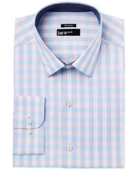 Bar Iii Men's Slim Fit Pink Blue Gingham Dress Shirt Only At Macy's