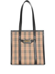 Burberry The Small 1983 Check Link Tote Bag Black