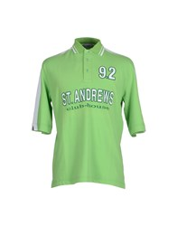 9.2 By Carlo Chionna Topwear Polo Shirts Men Light Green