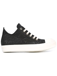 Rick Owens Lace Up Sneakers Black