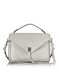 Rebecca Minkoff Putty Pebble Leather Darren Messenger Bag Gray