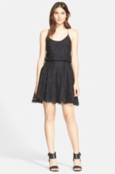 Joie 'Nanon B' Lace Fit And Flare Dress Black