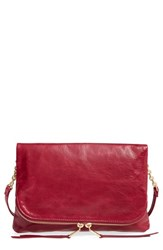Hobo Adrian Leather Crossbody Bag Red Red Plum