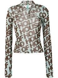 House Of Holland Logo Long Sleeve Top Green