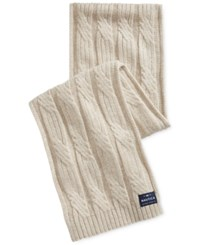 Nautica Men's Solid Cable Scarf Sandy Heather
