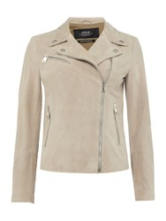 Replay Suede Leather Jacket Grey