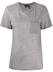 Theory Round Neck Front Pocket T Shirt 60