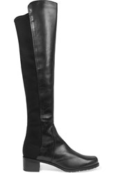 Stuart Weitzman Reserve Leather And Stretch Over The Knee Boots Black
