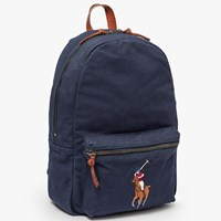 Ralph Lauren Polo Canvas Big Pony Backpack Navy