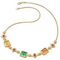 Tagliamonte Classic Collection 18K Gold And Ruby Necklace