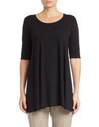 Eileen Fisher Petite Half Sleeved Tunic Top Black