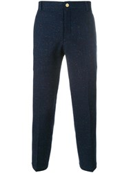 Thom Browne Engineered Stripe Patch Pocket Unconstructed Chino Trouser Blue