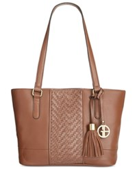 Giani Bernini Pebble Weave Tote Only At Macy's Tobacco