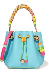 Sophia Webster Romy Mini Leather Bucket Bag Blue