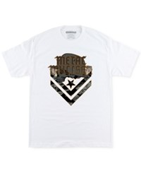 Metal Mulisha Men's Cam Graphic Print Logo Cotton T Shirt Optic White