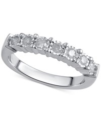 Macy's Diamond Band 1 4 Ct. T.W. In Sterling Silver