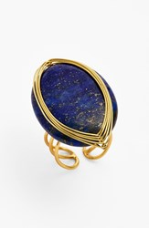 Women's Panacea Adjustable Lapis Wire Wrapped Ring Navy