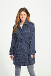 London Fog Women's Polka Dot Single Breasted Trench Coat