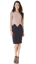 Vionnet Sleeveless Dress Taupe Steel Blue